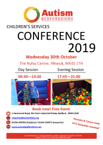 Autism Bedfordshire Children's Services Conference for parents and carers