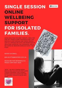 Online Wellbeing Support for Isolated Families.