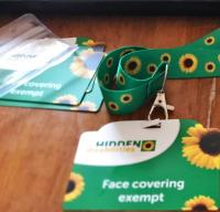Sunflower Lanyard with Face covering exempt