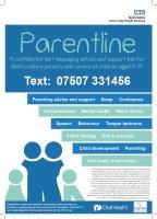 Parentline Poster