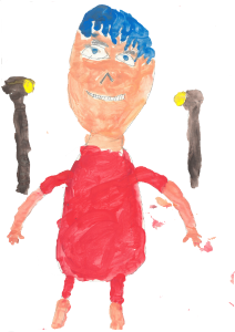 A self portrait, drawn by Mostafa, age 8