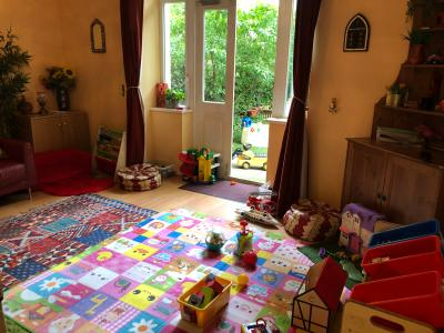 Play room with access to the garden