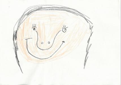 Alfie drew a beautiful portrait of his mum
