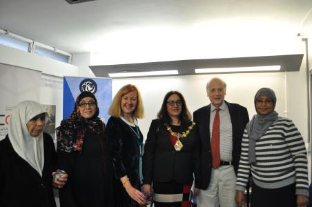 A photograph of Women's Centre clients with the local councillor and mayor