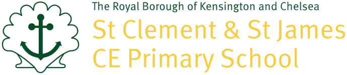 St Clement and St James CE Primary School logo