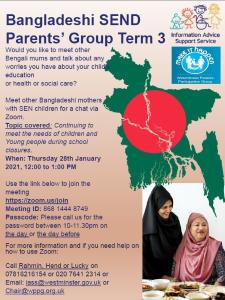 Poster for parents group