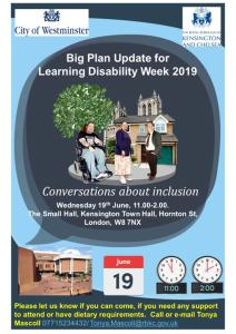 A poster advertising the Big Plan Update event. It reads