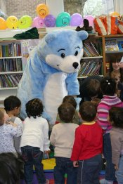 Bookstart Bear in a Library
