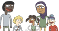 A group of diverse young people drawn in cartoon. The images used by the local CAMHS service.