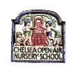 Chelsea Open Air Nursery School and Children's Centre logo. A picture of children playing outside in ceramic style.