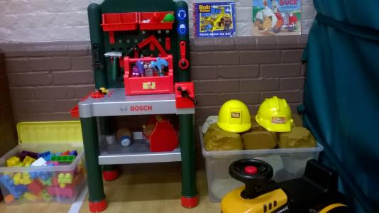Photos of the construction toys and building blocks at Club Kids