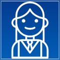 A cartoon picture of a smiling nurse.