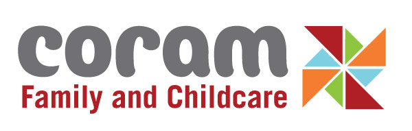 Coram Family and Childcare Trust logo.