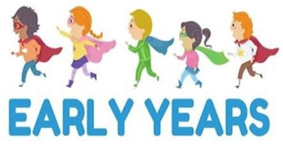 An image showing young children wearing superhero costumes and running over the words