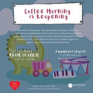 Image of coffee morning flyer