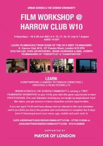 Film & TV workshop flyer