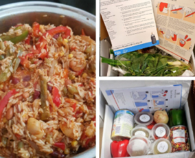 image of food boxes