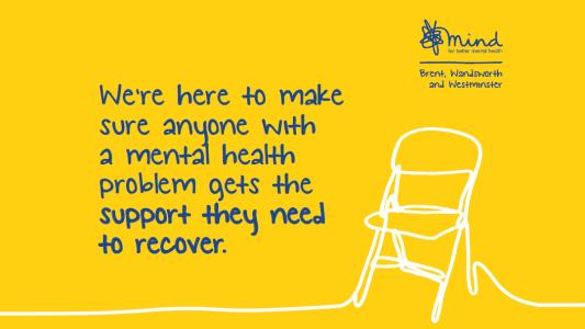 Graphic banner about mental health support services