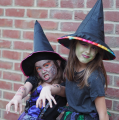 Image of children dressed as witches
