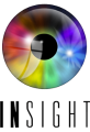 Logo for Insight. It shows a shiny, rainbow-coloured iris.