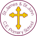 St James and St John CE School logo