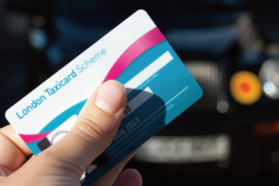Photo of the London Taxicard