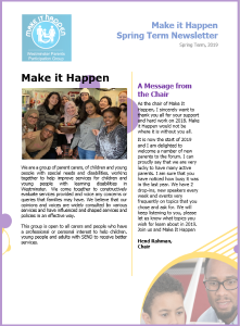Make it Happen Spring Term Newsletter