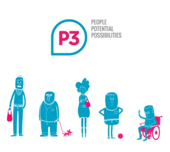 P3 logo. It reads