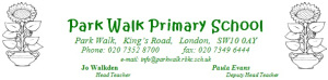 Park Walk Primary School logo