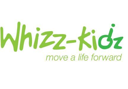 Whizz Kidz logo. Slogan reads