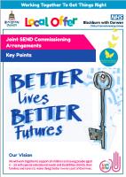 Joint Commissioning Arrangements Key Points