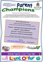 Invitation to Parent Champion training