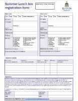Summer Lunchbox Registration Form pic