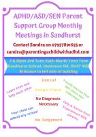 ADHD/ADD/ASD - Parent Mutual Support Group - Sandhurst Poster/Flyer