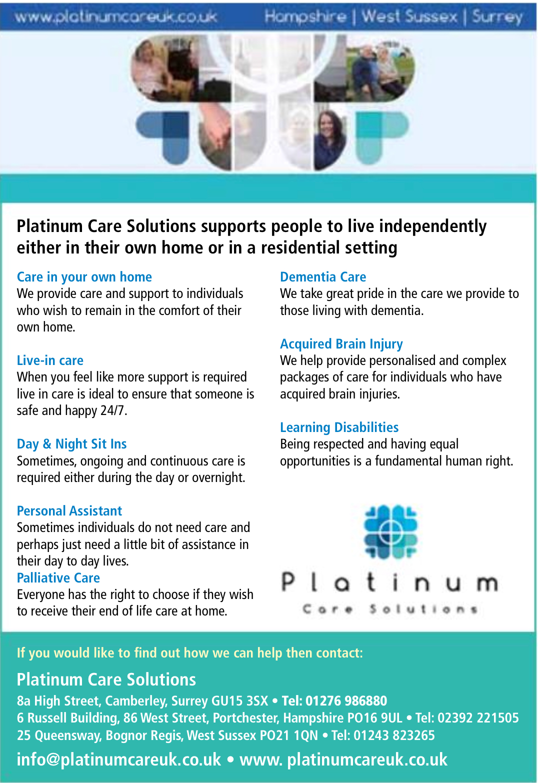Platinum Care Solutions | Bracknell Forest Help Yourself