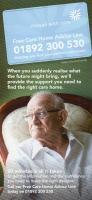 Free Care Home Advice Line Leaflet