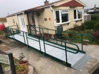 Ramp to a mobile home