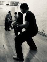 Group martial arts class