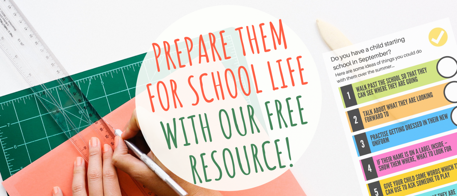 Preparing for School this september - a free resource for your family.