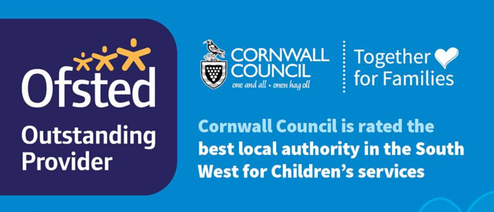 OFSTED rates Cornwall's children's social care services as the best in the South West