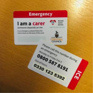 emergency carers card