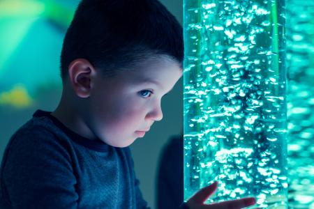 Child In A Sensory Room