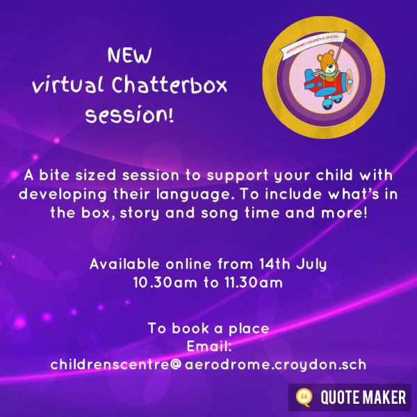 Chatterbox leaflet. See website for full details.