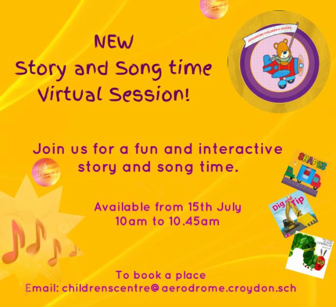 Song and Story Time leaflet. See website for full details