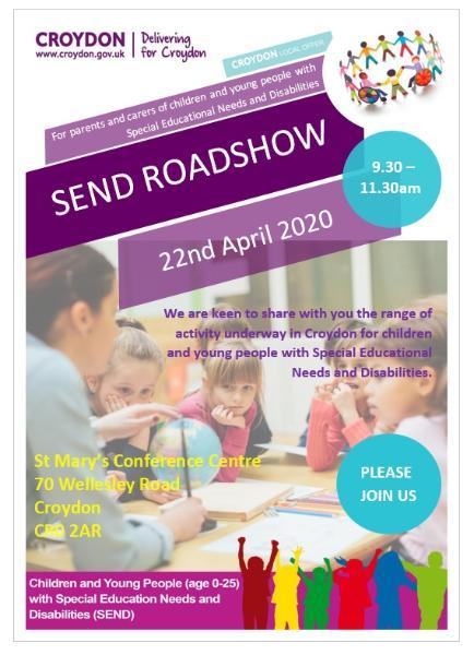 SEND Roadshow poster
