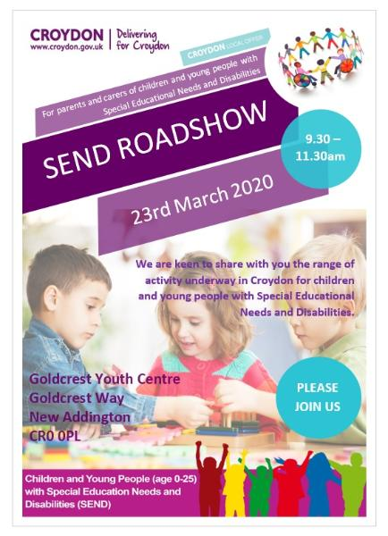 SEND Roadshow poster