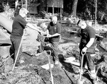CW team on the job at Brantfield Nursery School, Kendal