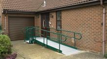 Photo of a home with a wheelchair ramp