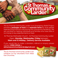 St Thomas Community Larder flyer