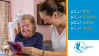 Image of a care worker and client